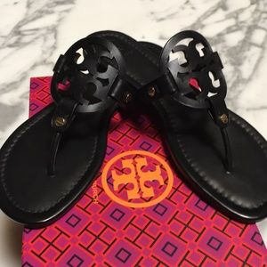 Tory Burch Miller Veg Leather Sandal SZ 8